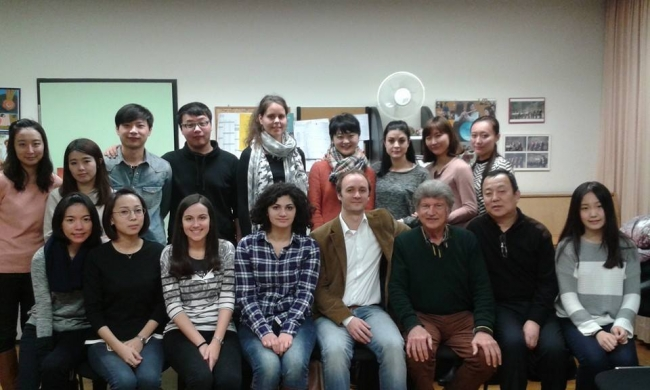Courtesy of Prof. Jean-Michel Tanguy: Excellent Masterclass with Prof. Philipp Jundt at Mannheim Hochschule with Prof. Jean-Michel Tanguy's students and Prof. Shin Ping Gao from Xie An as Gast. GREAT CLASS!