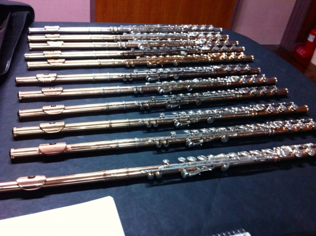 First day of class with 1st-year flutes. Photo: Dorothee Binding