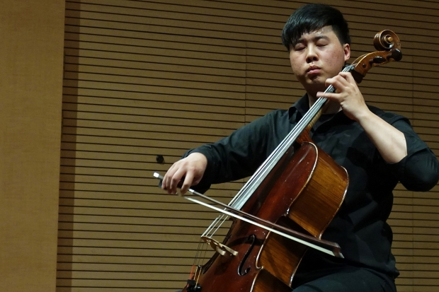 3rd-year cello student Sung Gyul Song 송성결, took 3rd prize at the Music Education News (음악 교육 신문사) Competition May 15! Photo: Charles Ian Chun